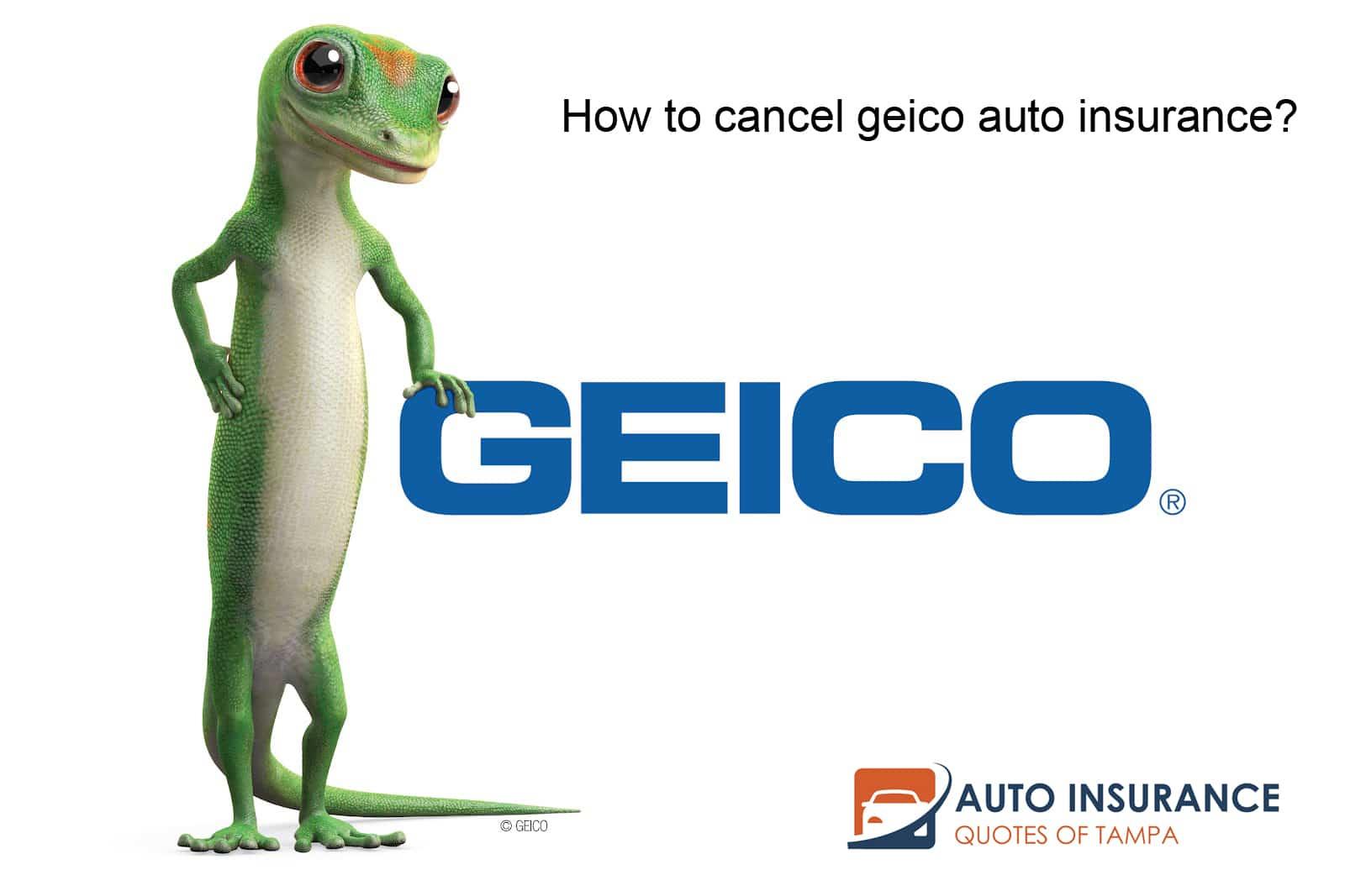 How to cancel geico auto insurance